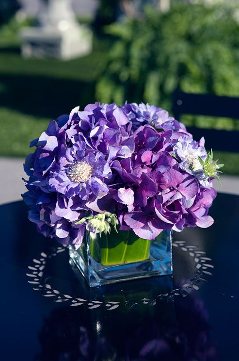 17 best ideas about purple flower centerpieces on