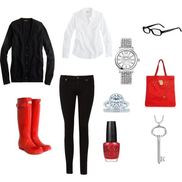 Super cute rainy day outfit | My Style | Pinterest | Style Boots and Rainy day outfits