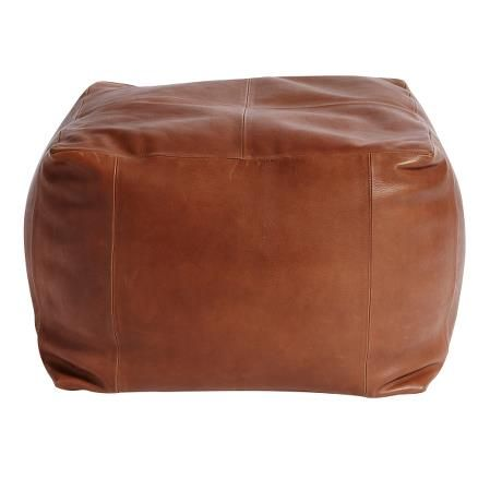 Pouf Luce Leather Brown