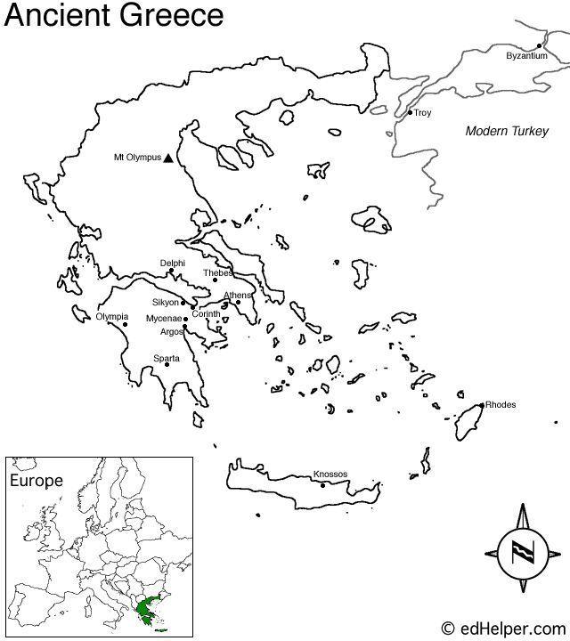 Ancient Greece Blank Maps Ancient Greece Greece Map
