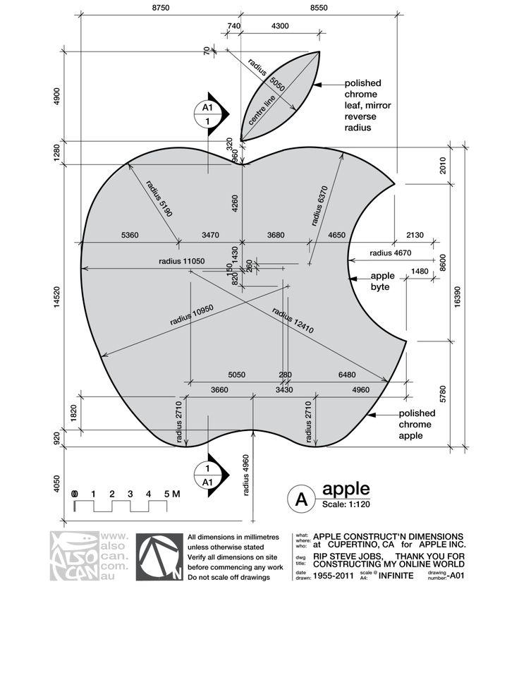 Apple Logo Explanation . Graphic Design . Logo Construction
