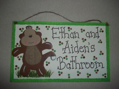Bathroom Signs Ebay best 25+ monkey bathroom ideas on pinterest | kids bathroom