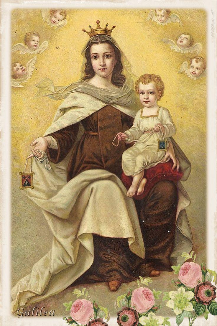Imágenes religiosas de Galilea: Virgen del Carmen