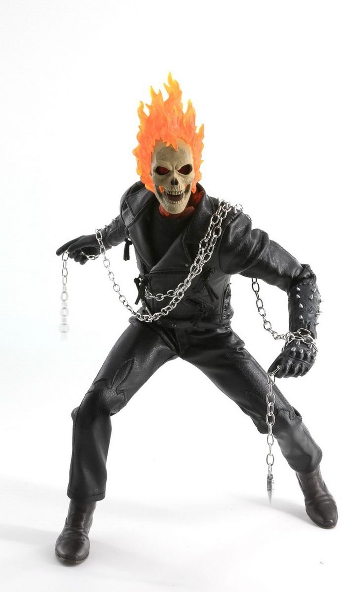 "(176.00$)  Buy here - http://aiz29.worlditems.win/all/product.php?id=32799623401 - ""1/6 scale Collectible film figure Ghost Rider with Burning skull head 12"""" action figures doll model plastic toy,No Box"""