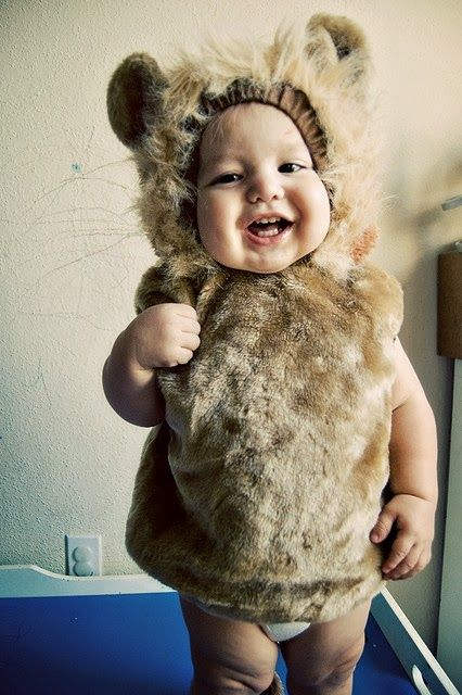 Baby tiger outfit looking cute