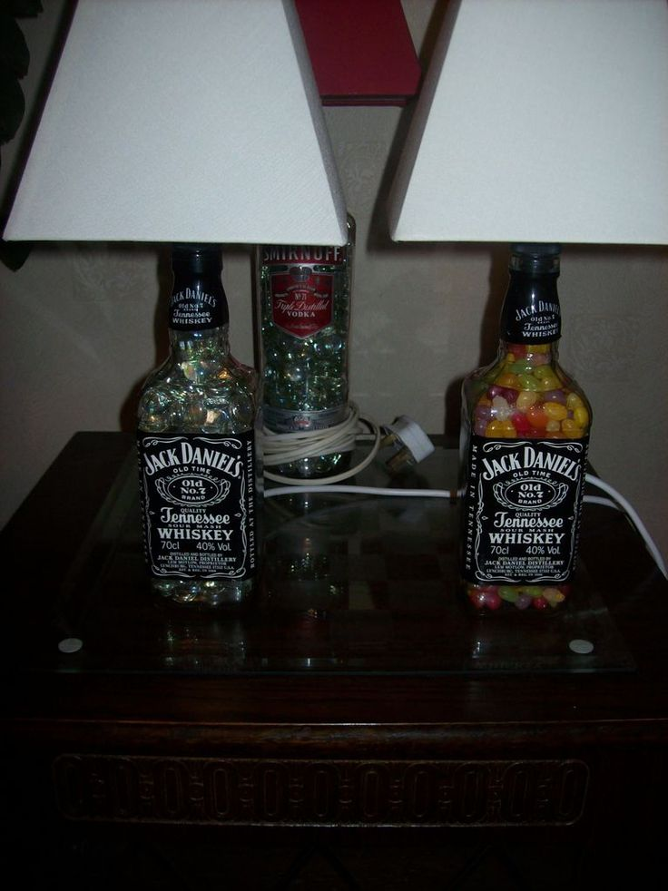 turn old liquor bottles into lamps
