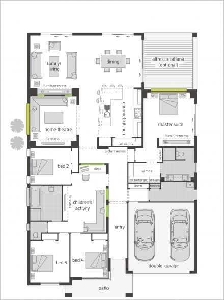 Master suite----Milano One 16m floor plan