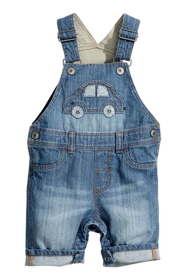 Denimové šortky s laclem | H&M