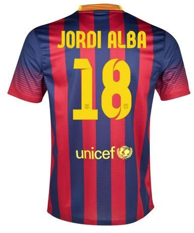 Barcelona (18 jordi alba) home jerseys-get an access to cheap 2013-