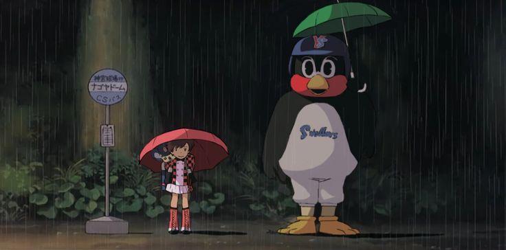 トトロ、つば九郎、チアドラ、ドアラ。 http://yfrog.com/051zrj #swallows #dragons