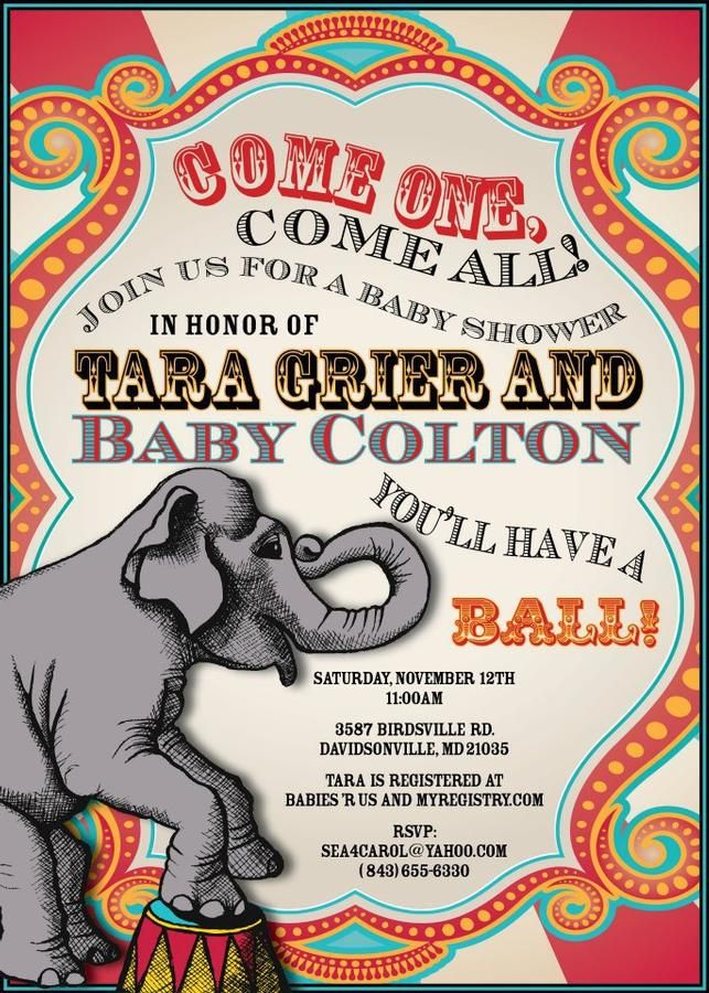 circus baby showers themed baby showers circus invitations baby shower