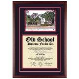 University of Georgia Diploma Frame with UGA Lithograph Art PrintBy Old School Diploma Frame Co.