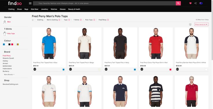Fred Perry polos for men and many more tees for the handsomes on findoo.com.au.
