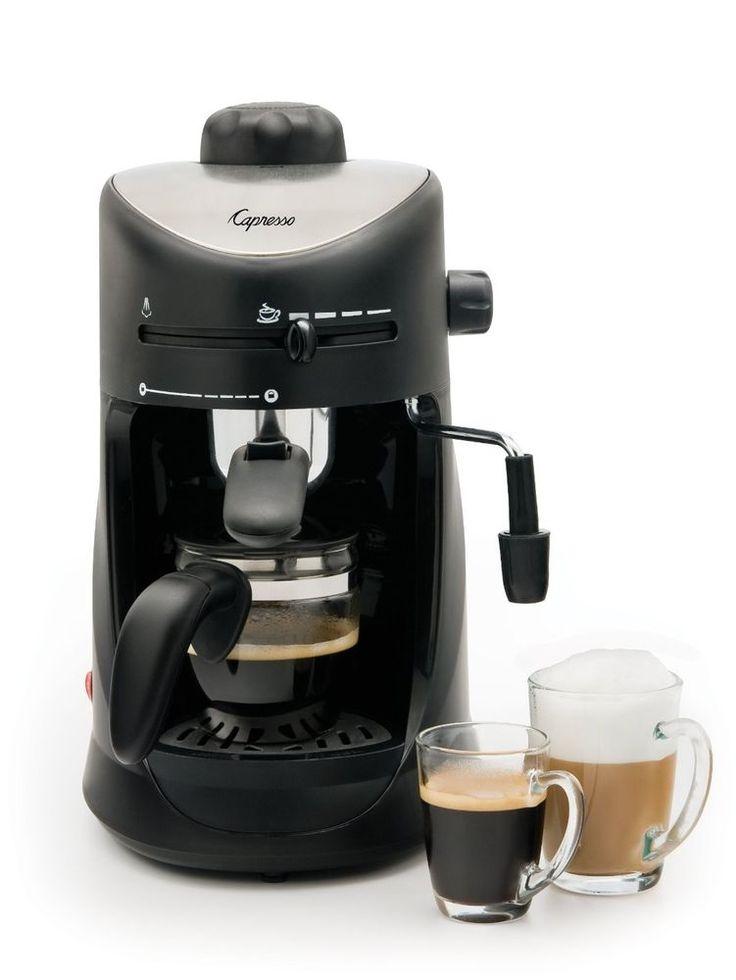 4-Cup Espresso Cappuccino Latte Machine Best Foam Small Home Kitchen Coffeemaker #Capresso