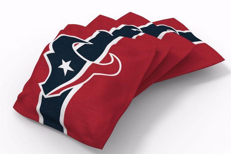 Houston Texans Stripe Bean Bags-4pk (B)