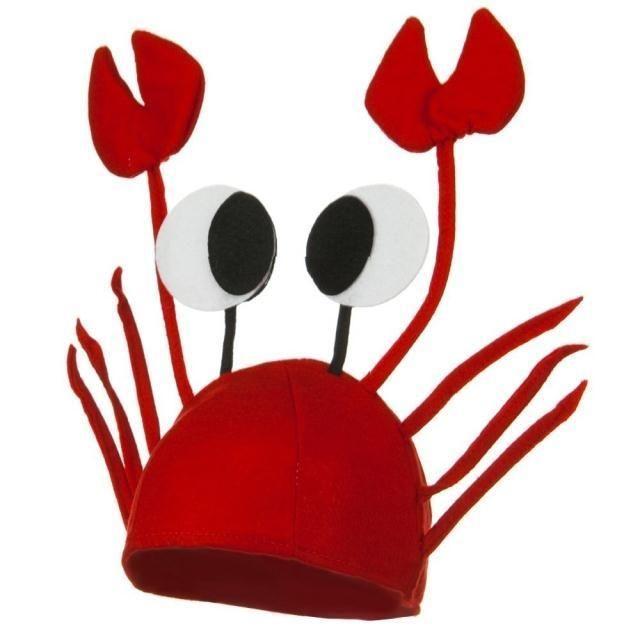 Crab felt hat, costume