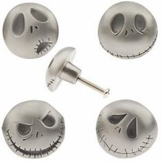 set of four jack skellington drawer pulls i would have liked to have these