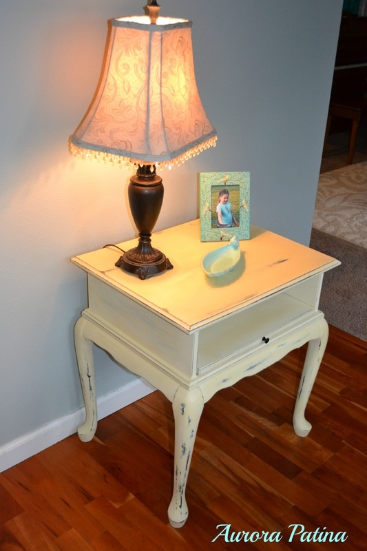Chalk Painted End Table From Aurora Patina Diy And Home