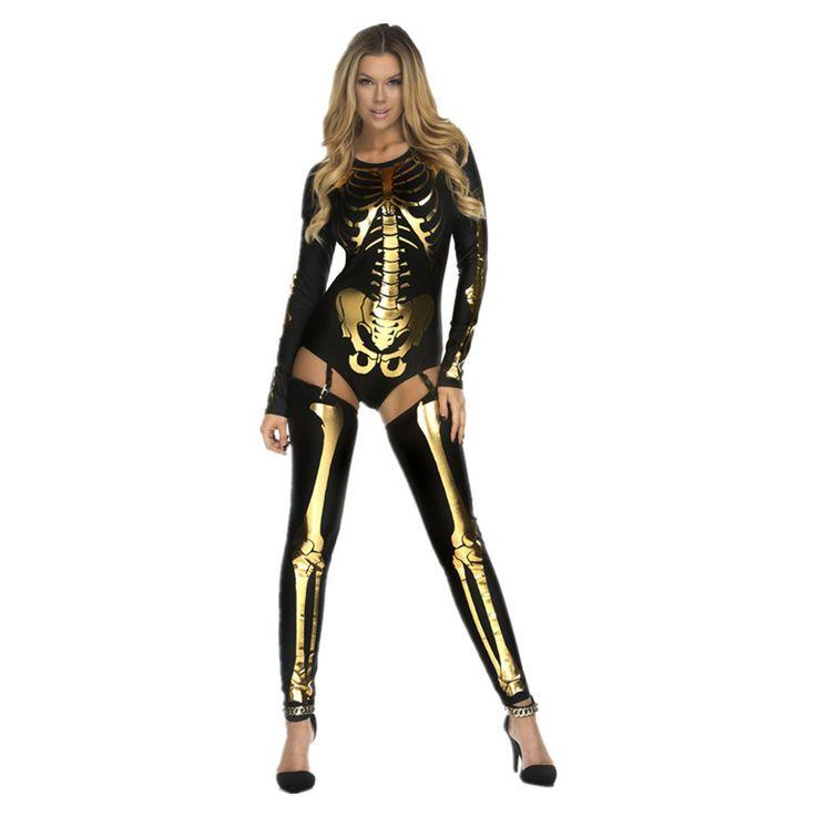 Skeleton Bodysuit Costume Women Nightclub Party Cosplay Clothes