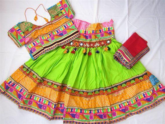 Navratri chaniya choli Green by Indian designer Indian by mfussion