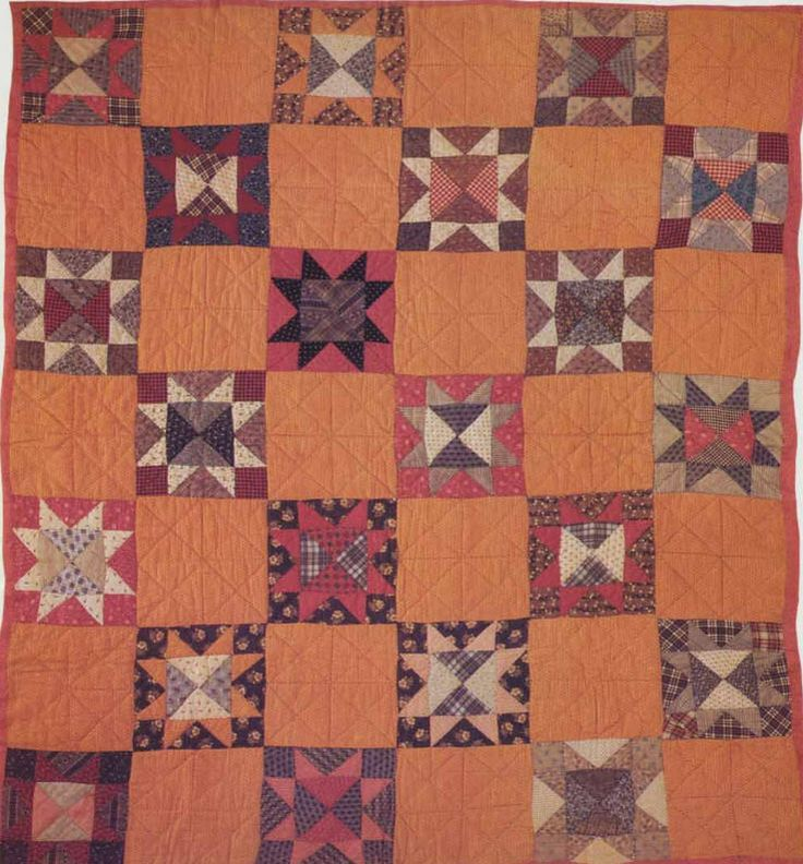 Beautiful vintage quilt---Star Quilt, c 1880. Maker unknown.