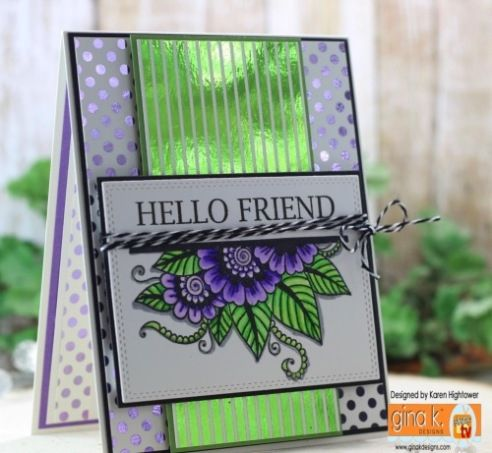 Gina K. Designs Foil-Mates And Zig Clean Color Markers - stampTV