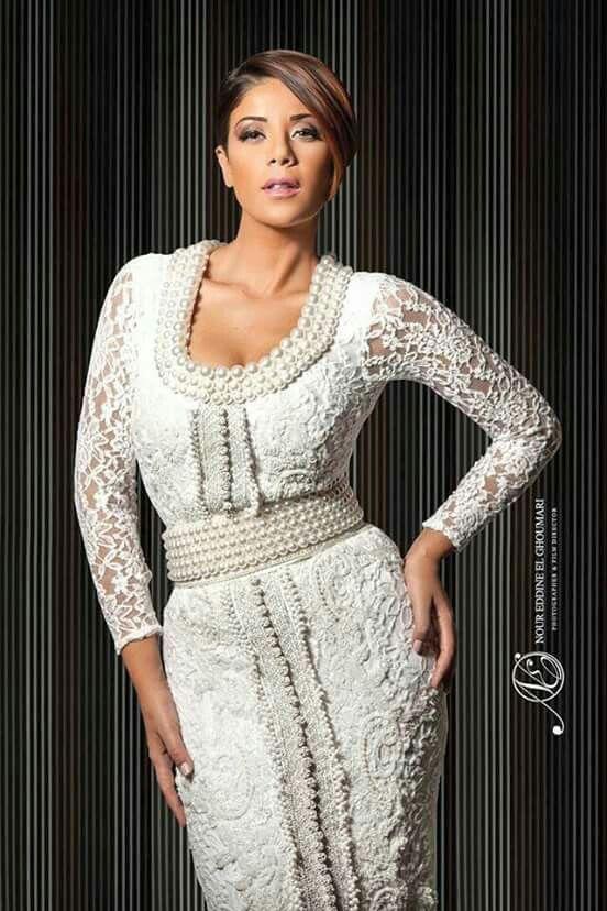 White Moroccan caftan - Leila hadioui
