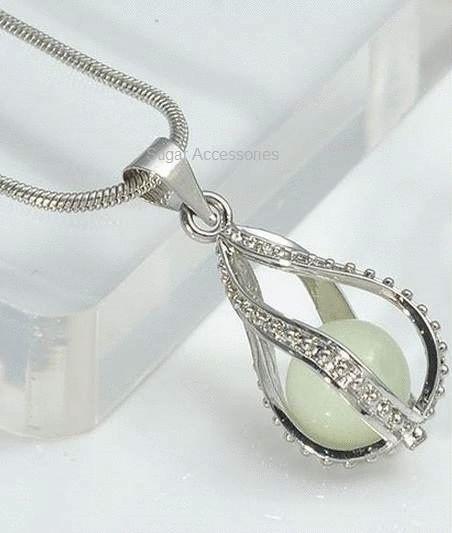 Glow Swirl Pendant Necklace