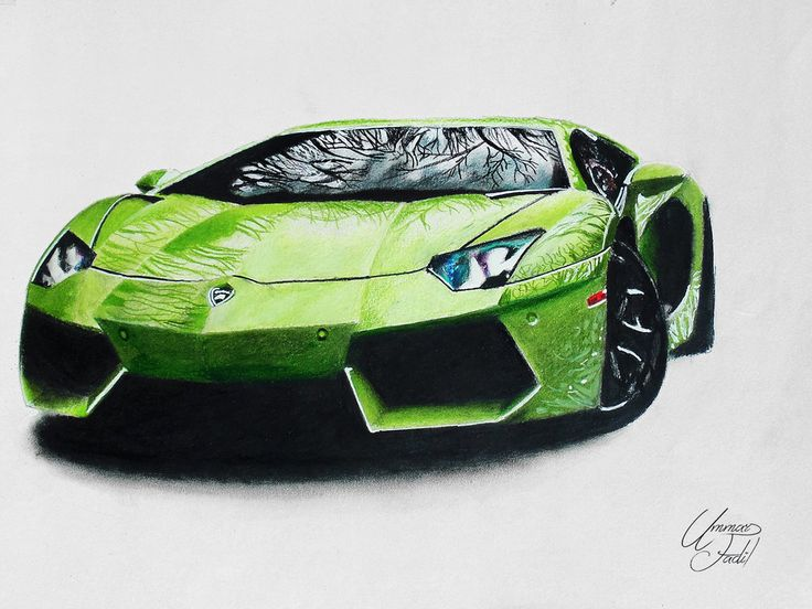 So I am starting a new drawing series - 'cars' ! I really like most of the lamborghini models. Aventador is my favorite so i thought of drawing it first. Drawing using prismacolor pencils. burnishi...