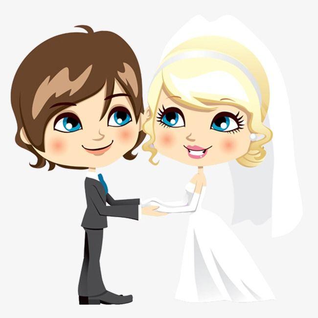 رسوم متحركة مرسومة باليد حفل زواج عروس و عريس Wedding Ceremony Wedding Stamp Wedding