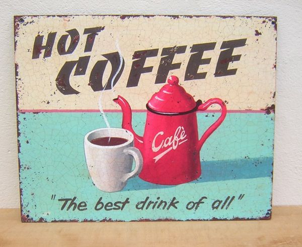 vintage coffee signs - Yahoo Search Results