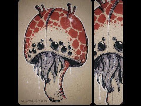 Zbrush Alien mushroom crab