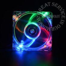 pc computer fan case cooling fan unit fan 8025 8cm with  LED lights  chassis fan  80 * 80 * 25
