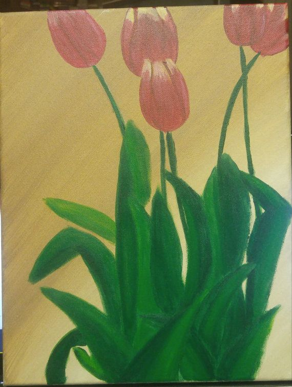 Red Flowers painting by melacrylics on Etsy