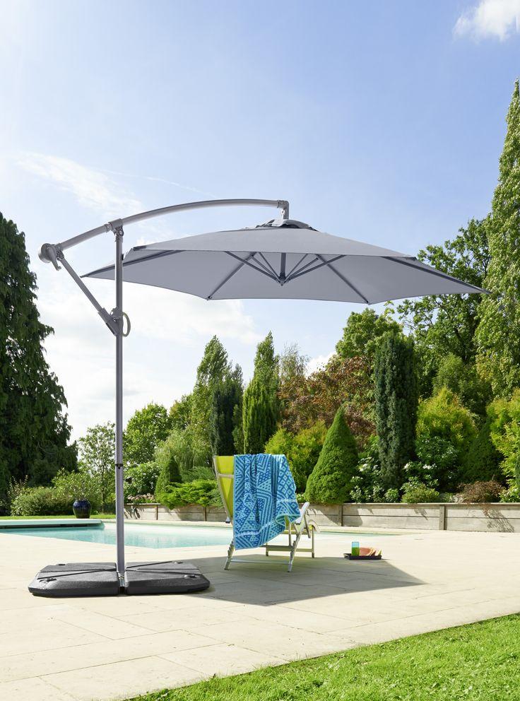 parasol excentre ronda dim toile cm en acier