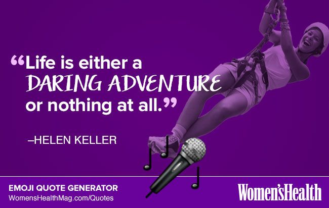 Here's Your Inspirational Quote from Helen Keller  http://www.womenshealthmag.com/life/helen-keller-quote
