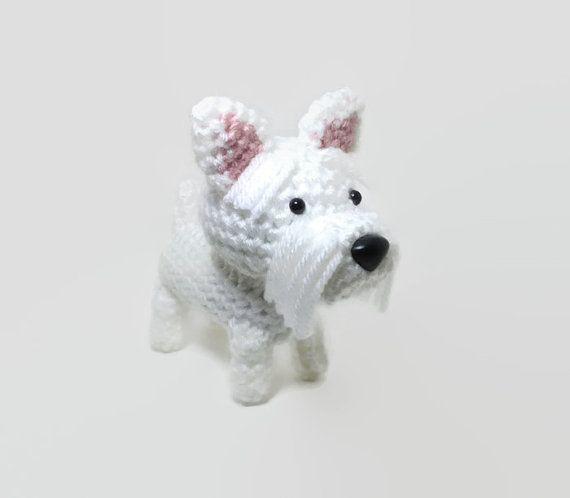 Westie Amigurumi Dog West Highland Terrier Crochet by Inugurumi