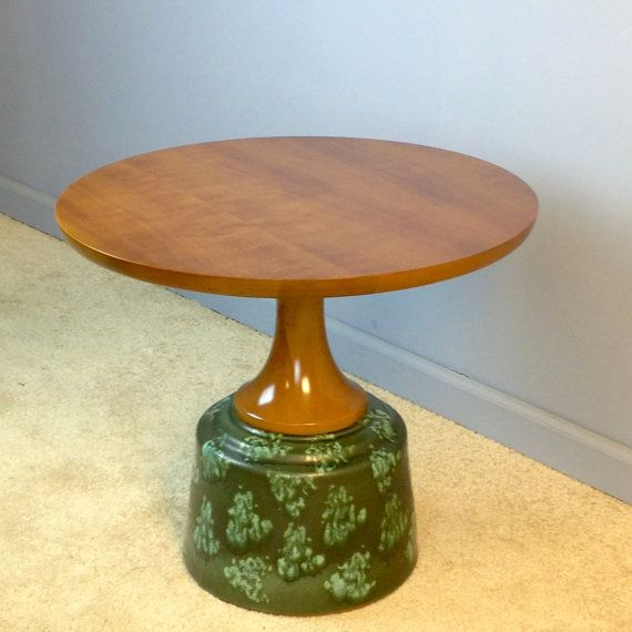 John Van Koert For Drexel Wood Occasional End Table With Ceramic Base For  By EamesInteriorDesigns | Mid Century Modern Furniture From My Shop |  Pinterest ...