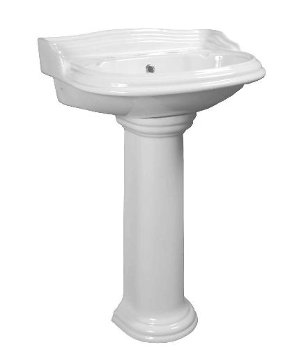 Colonial Wall Basin with Optional Pedestal - Basin and Pedestal - Basins - Bathware Direct http://www.bathwaredirect.com.au/basins/basin-and-pedestal/colonial-wall-basin-with-optional-pedestal.html