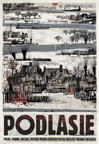 Podlasie, plakat z serii Polska, Ryszard Kaja