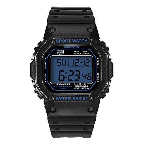 HUKOER Montre sport Mode de plein air pour homme – Montre électronique et numérique homme haute qualité et pas cher – DEL montre…