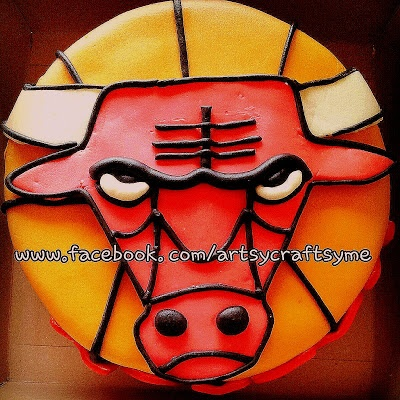 Chicago Bulls birthday cake