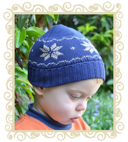 On sale! http://www.buttonbaby.com.au/button-snowflake-knit-navy-p-124.html - Hat with snowflake motif.100% Cotton. Made in Australia.   S(Newborn)