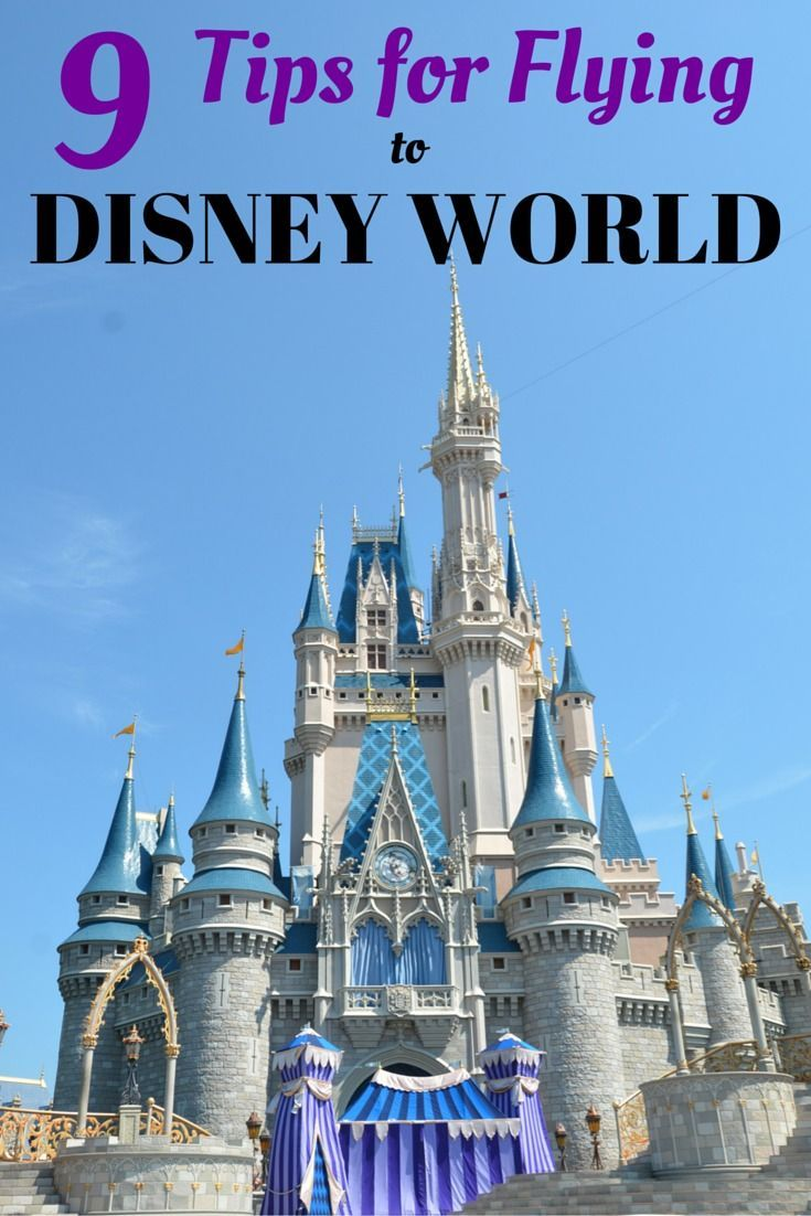 9 Tips for Flying to Walt Disney World - Planning to travel by air to Orlando to visit Mickey? Get all the details to make your flight and ground transportation a success.