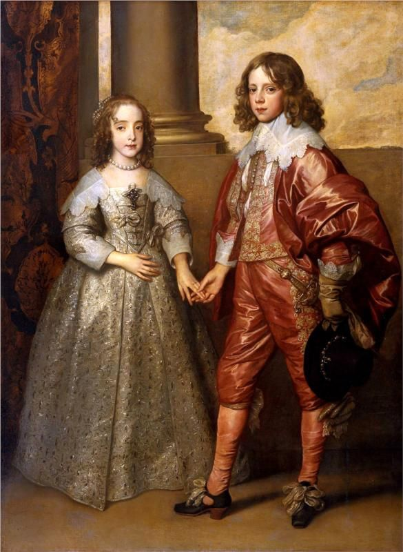 Anthony van Dyck, William II, Prince of Orange and Princess Henrietta Mary Stuart, daughter of Charles I of England, 1641