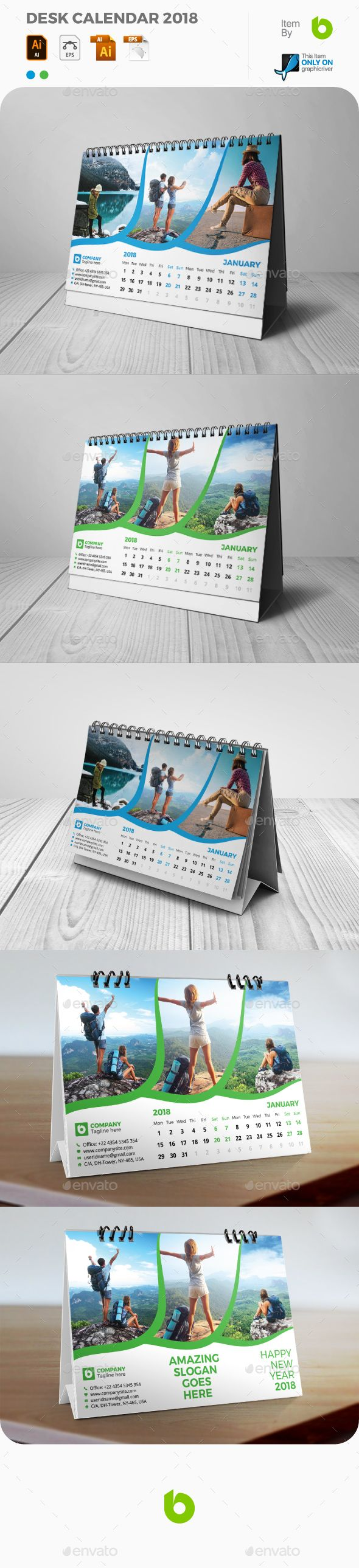 Desk Calendar 2018 - #Calendars #Stationery