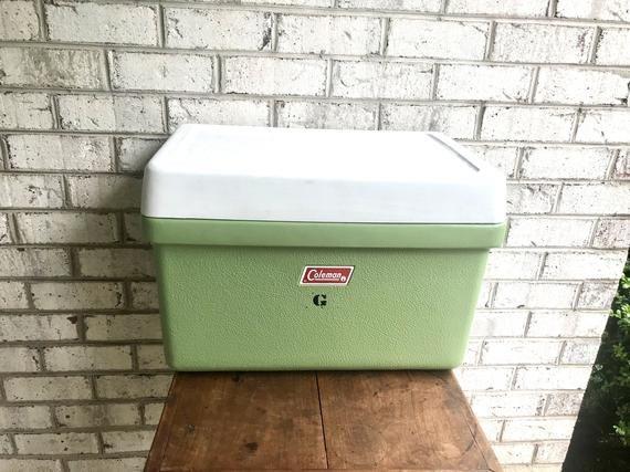 Original-Vintage Coleman Army Green Cooler Plastique Couvercle Charnière pour modèle 6286
