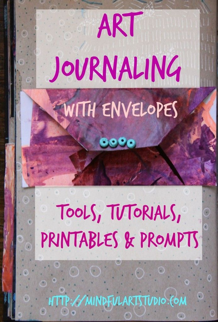 Art Journal with Envelopes – #creative #Kunstjournal #mit # Envelopes