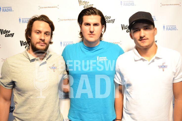 Die beiden Kloten Flyers Spieler Lukas Stoop und Vincent Praplan waren auch bei mir zum Interview.