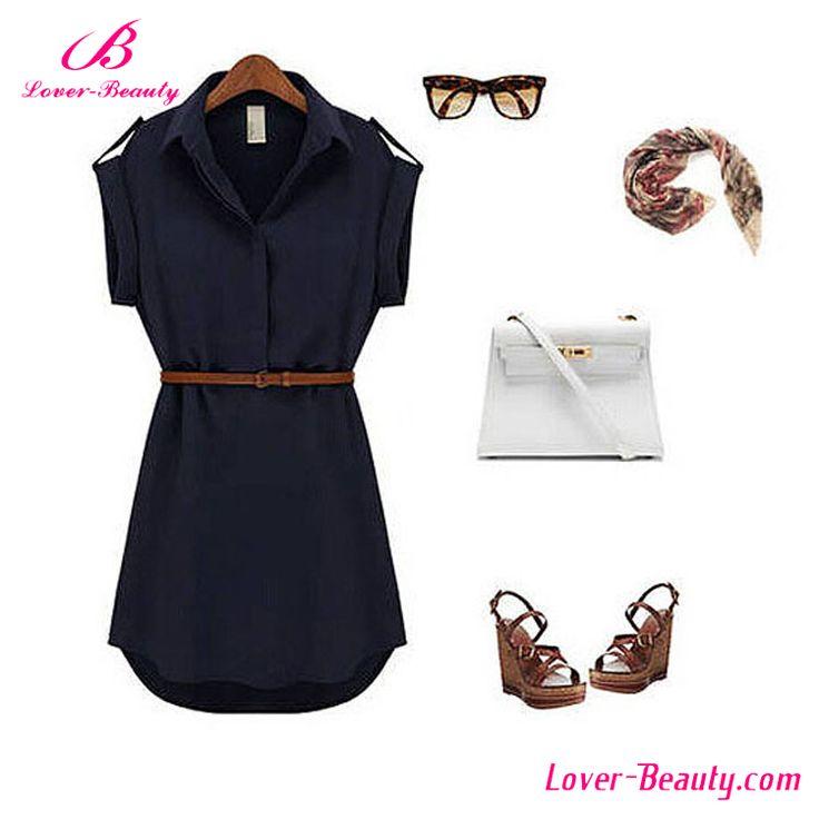 Comercio al por mayor Camisa de Cuello de Color Caqui de Las Señoras Vestidos de Gasa Para Las Mujeres-Vestidos casual-Identificación del producto:60575967605-spanish.alibaba.com